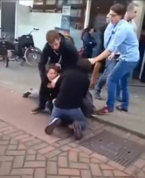 Video of Chinese Couple Fighting In Holland