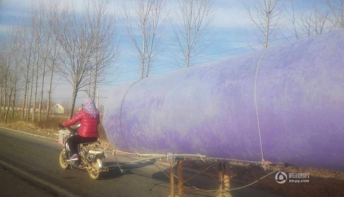 Villager Pulls Massive Bag Of Natural Gas
